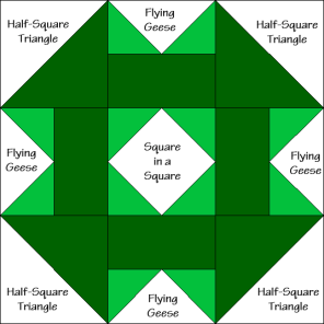 Garden Square Quilt Block Diagram Free Pattern at QuiltTherapy.com!