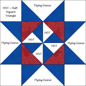 Martha Washington Star Quilt Block Diagram Free Pattern at QuiltTherapy.com!