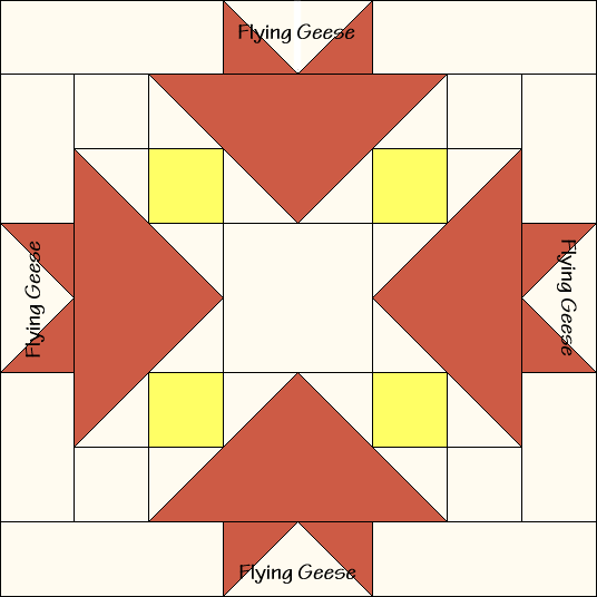 Sugar Bowl Quilt Block Diagram Free Pattern at QuiltTherapy.com!
