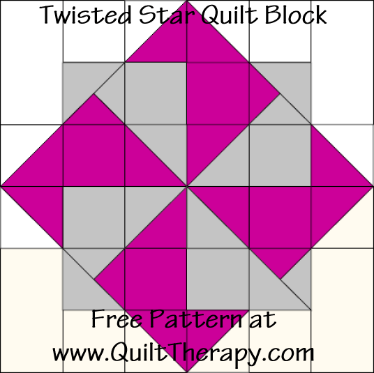 Star Power: Twisted Star Quilt Block & Twisted Star Variation ... : twisted star quilt block - Adamdwight.com