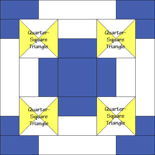 Scottish Cross Quilt Block Diagram Free Pattern at QuiltTherapy.com!