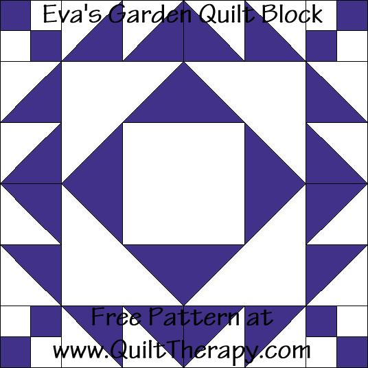 Eva's Garden Quilt Block Free Pattern at QuiltTherapy.com!