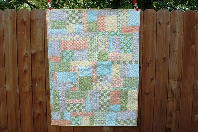 marmalade fabric, baby boy quilt, modern baby quilt, improv pieced quilt, twin quilt idea
