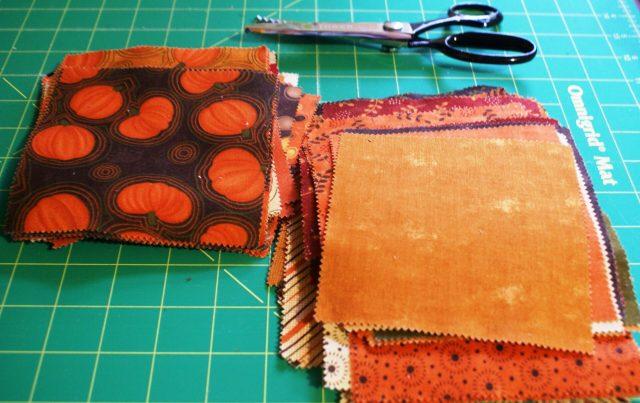 fall fabric scraps