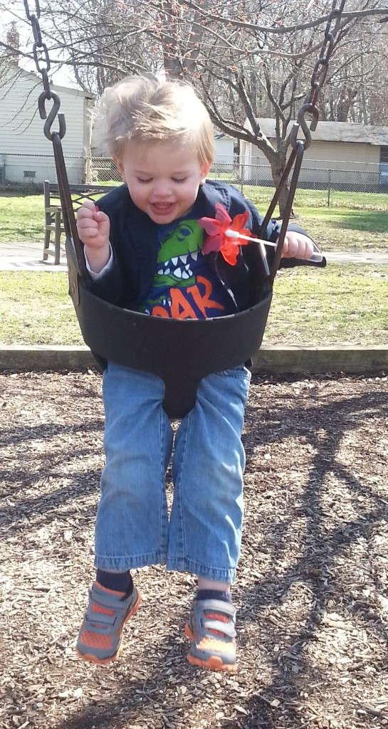 porter on a swing