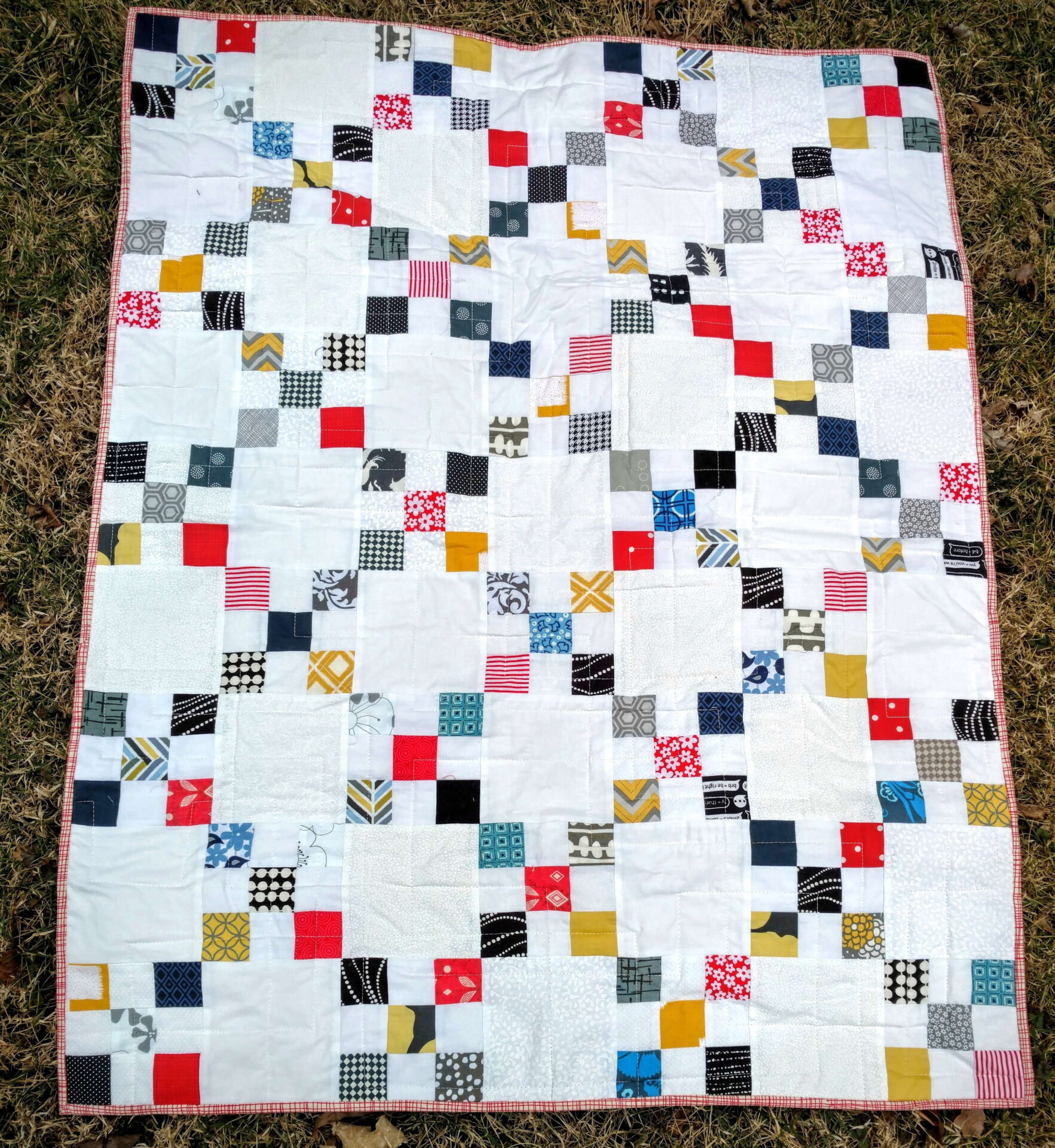 Scrappy Irish Chain Baby Quilt Finished - Quiltytherapy ... : irish chain baby quilt pattern - Adamdwight.com