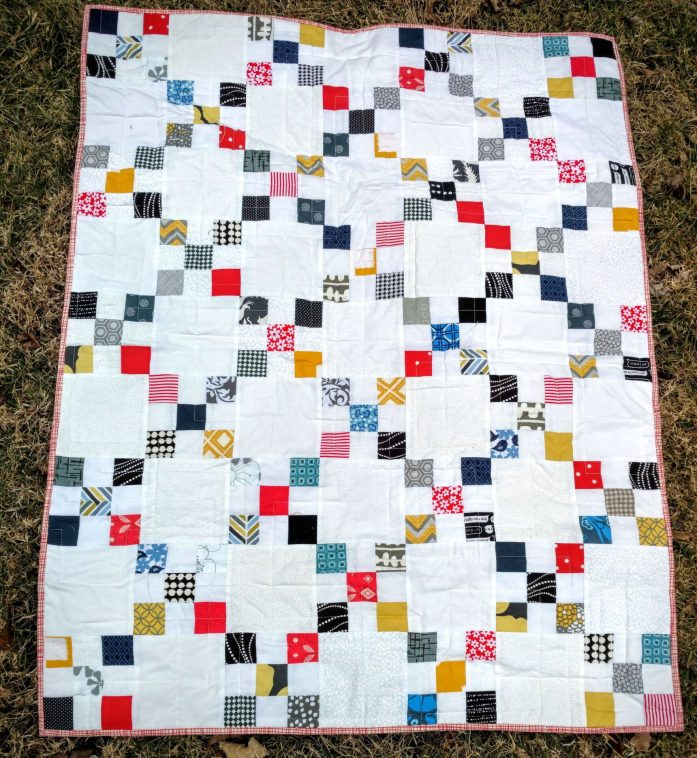 Scrappy Irish Chain Baby Quilt