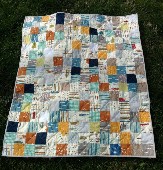 boy's outdoor themed quilt