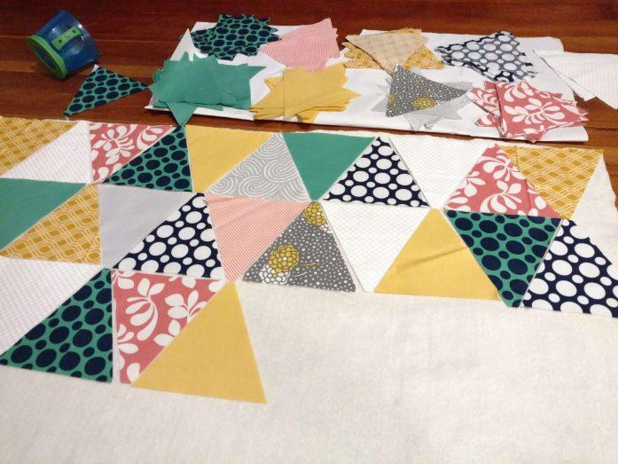 gender neutral triangle quilt