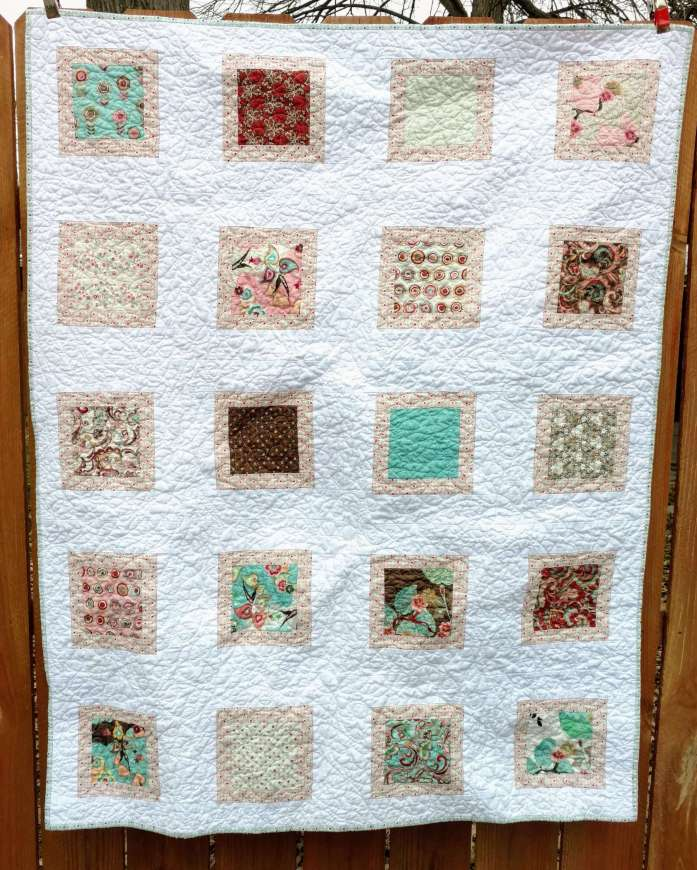 Moda Blush, baby girl quilt, simple quilt, easy quilt, charm pack quilt, quiltytherapy