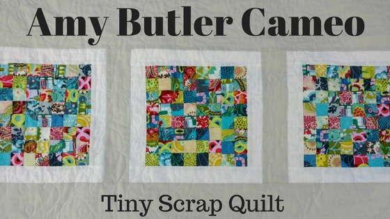 tiny scrap quilt, scrap quilt, modern scrap quilt, amy butler cameo fabrics, stash quilt