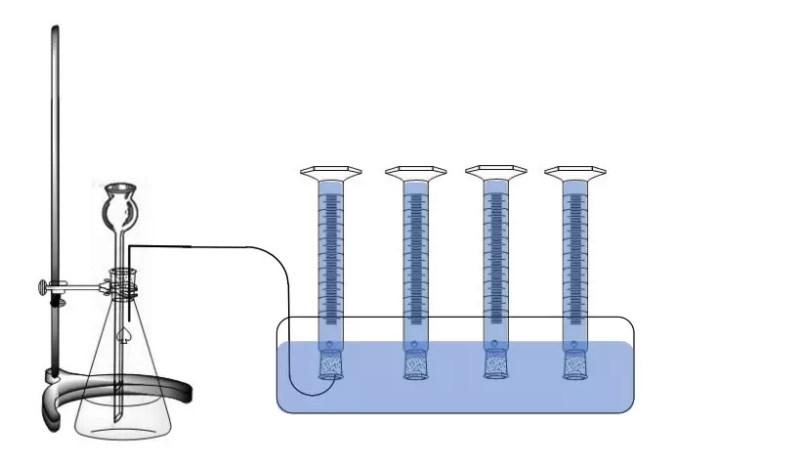 Montaje recolección de oxígeno