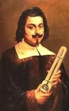 Retrato de Evangelista Torricelli con un barómetro