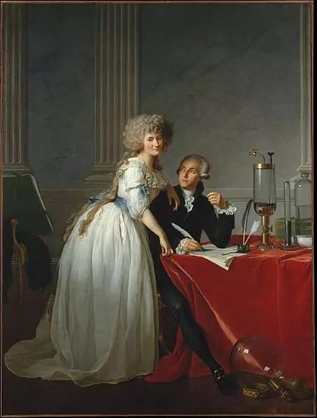 Retrato de Lavoisier y su esposa, Marie-Anne Lavoisier