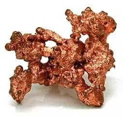 Muestra de cobre nativo