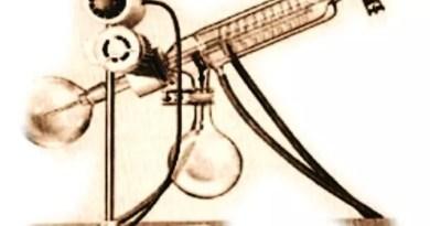 Ilustracion de un evaporador rotatorio para eliminación de solventes