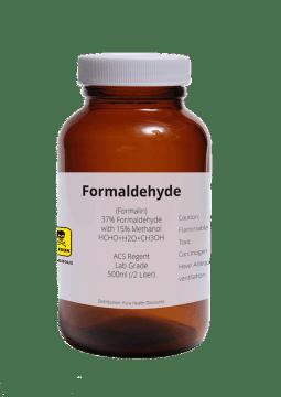 Frasco de formaldehído reactivo