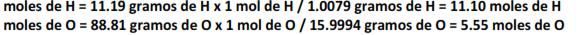 Ecuación composición porc. 2