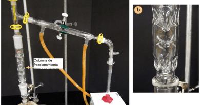 Montaje destilación fraccionada imagen