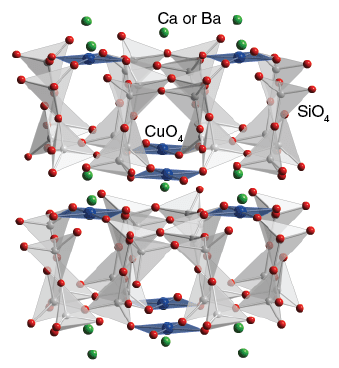 Estructura cristalina del azul egipcio