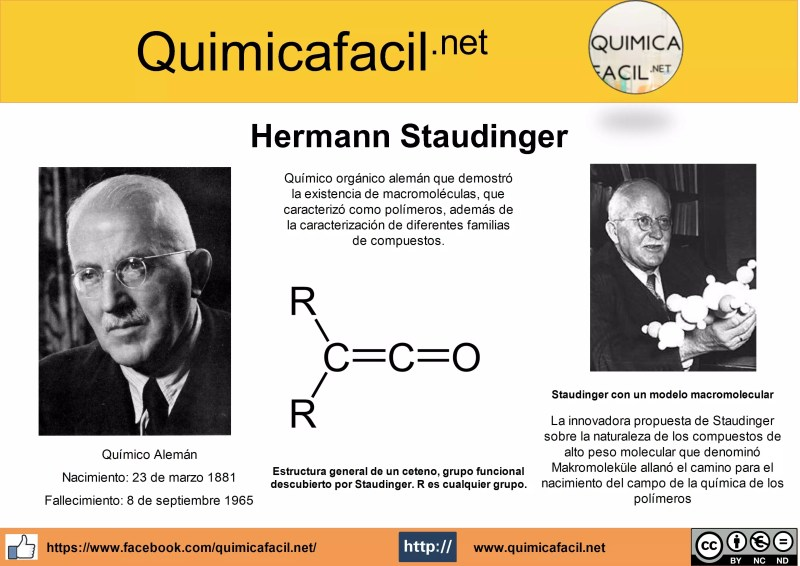 Infografía Hermann Staudinger