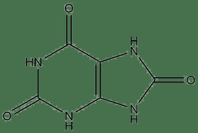 Estructura 2D del ácido úrico