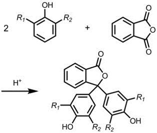 Esquema general de síntesis de análogos de la fenolftaleína