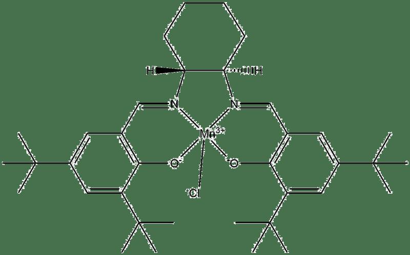 Estructura 2D del catalizador de Jacobsen