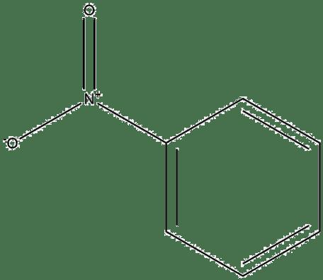 Estructura 2D del nitrobenceno
