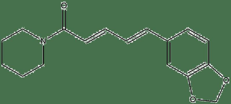 Estructura 2D de la piperina