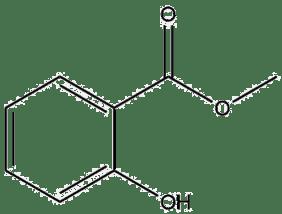 Estructura 2D salicilato de metilo