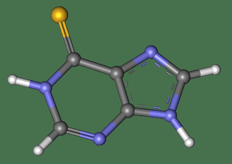 Estructura de la mercaptopurina