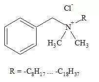 Estructura del cloruro de benzalconio