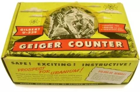 Caja de un contador Geiger para búsqueda de uranio y minerales radioactivos