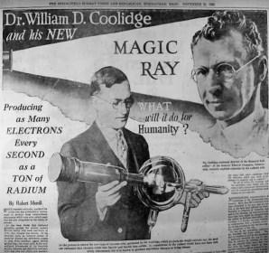 Publicidad del tubo de rayos X de Coolidge