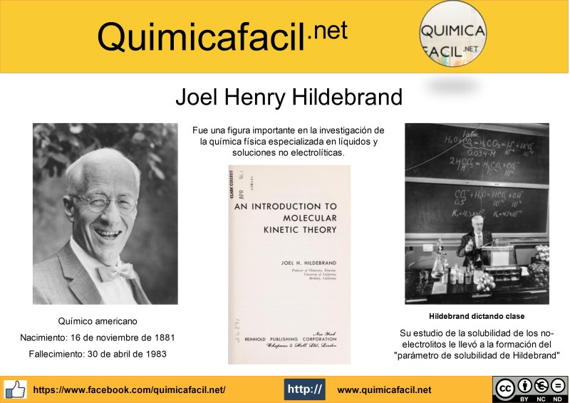 Infografía Joel Henry Hildebrand