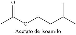 Estructura 2D del acetato de isoamilo