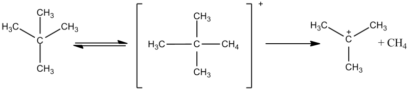 El catión neopentano y la subsiguiente reacción de división