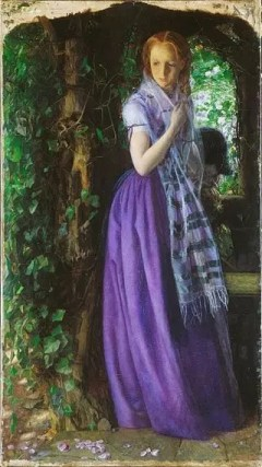 Amor de abril, óleo de Arthur Hughes que data de alrededor de 1855, durante la «década malva».