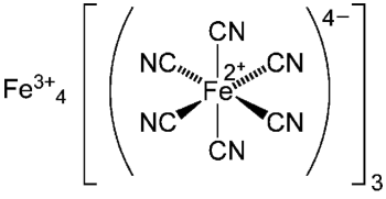 Molécula del azul de Prusia