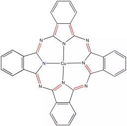 Estructura del Azul de Ftalocianina