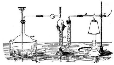 """Aparato de prueba de Marsh (presentado en """"An Introduction to Chemical Pharmacology"""")"""