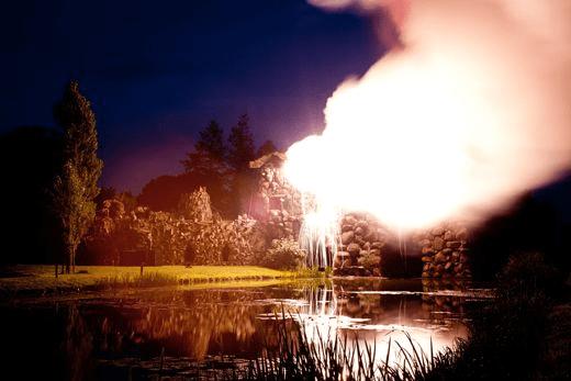 El volcán en su máximo esplendor, un espectáculo hace siglos y hoy en día