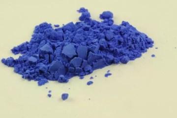 Muestra de azul Han, de Kremer pigment
