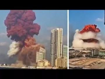 Fotogramas de la explosión