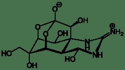 Estructura de la tetrodotoxina