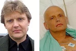Alexander Litvinenko, antes y después de su envenenamiento