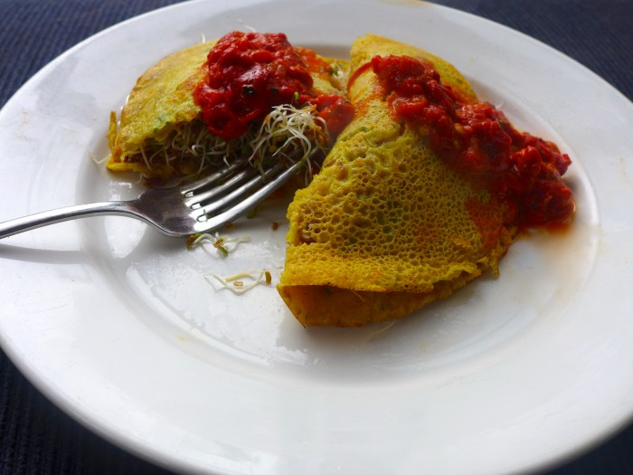 chick pea omelette/pancake