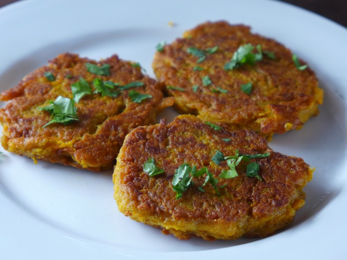 curried pumpkin fritters