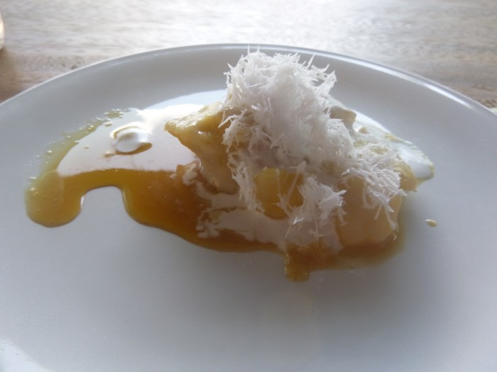 banana, palm sugar, coconut